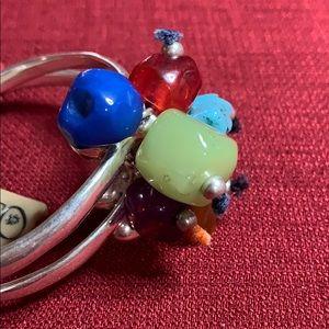 UNO de 50 Jewelry - Uno de 50 Double Bangle Stone Bracelet NWT